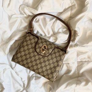 SOLD Vintage Gucci Monogram Top Handle Bag